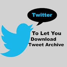 download tweet archive