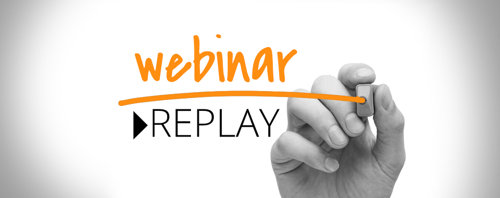 Make a recorded version available after the webinar