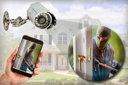 Security Camera and Burglar