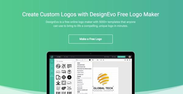 DesignEvo: A Web Tool to Create a Logo in a Few Clicks