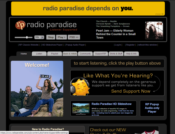 Radio Paradise - From Rock to Classical Music and Back
