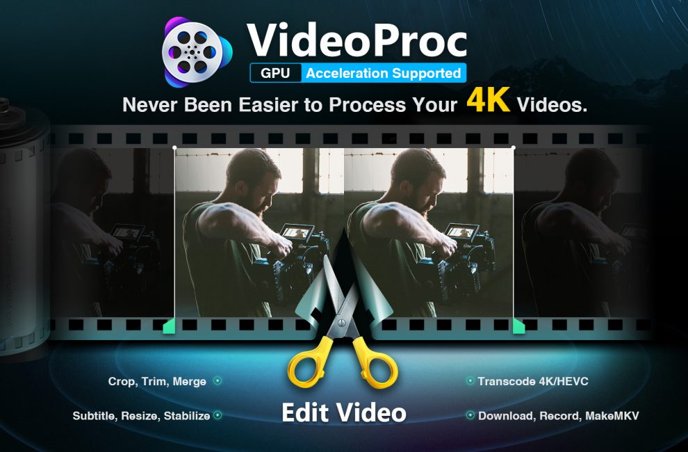 VideoProc: Stabilize shaky clips and edit 4K Videos with high quality