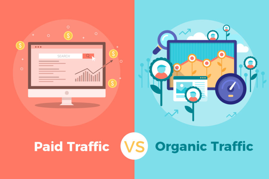 paid organic trafic
